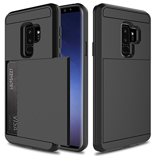 USHAWN Galaxy S9 Plus Case, Sliding Card Holder...