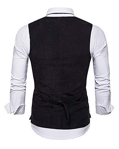 Blazer Noir Pour Manches Fit Sans Taille Slim Grande Gilet Hommes Yonglan Unicolore g1vqxFw