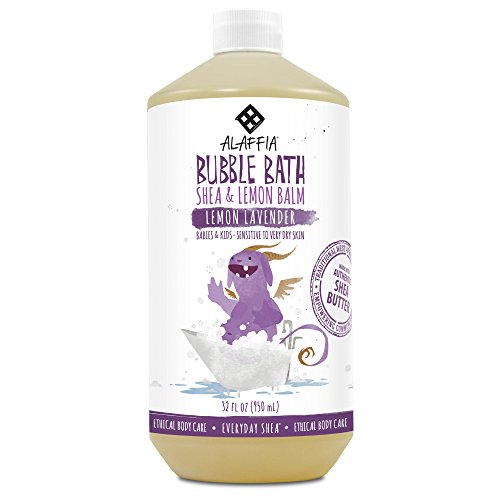 Alaffia - EveryDay Shea - Moisturizing Shea Butter Bubble Bath for Babies, Lemon-Lavender, 32 Ounces (FFP)