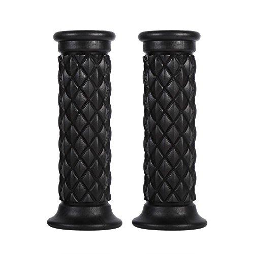 1 paar 7/8″22 mm universele motorfietsstuurgrepen met rubberen hendel(zwart)