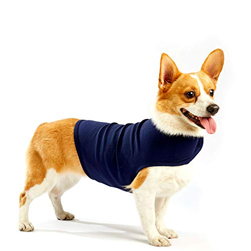 Furubaby Anxiety Dog Coat a Shirt Calm Down Dog Jacket for xs Small Medium Large XL Dogs | Solid Color Blue Gray Green Pink Thunder Dog Vest Wrap ()