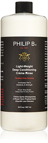 PHILIP B Light-Weight Deep Conditioning Cream Rinse Conditioner, Paraben Free Formula, 32 fl. (Philip B African Shea Butter)