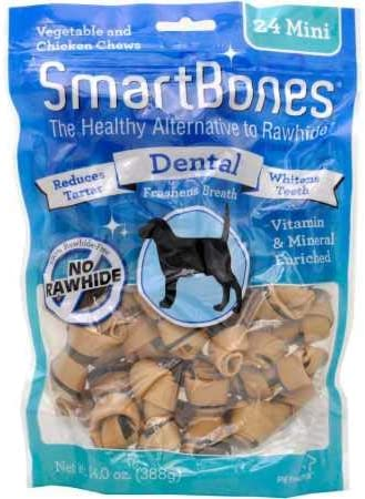 SmartBones Mini Dental Chews 24 Pack