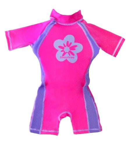 Flotation Swimwear (Girls Pink/purple Floating Swimsuit Flotation Suit Size Large Age 5.5-7.5 Years)