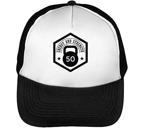 Gorras Strength Energy Snapback Hombre Sport Negro Blanco Beisbol Badge RnEwaxt