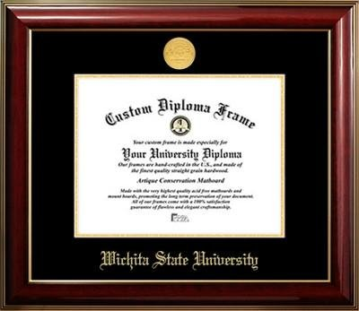 (Wichita State University Gold Medallion Diploma Frame)
