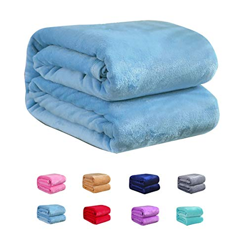 (Flannel Fleece Blanket for Baby Girl or boy, Soft Warm Cozy Toddler Blanket & Receiving Blanket for Infant or Newborn,(39 x 57 in, Blue))