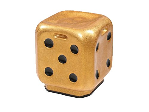 STOOL DICE gold Transperate Premium High Quality FIBER Material UNBREAKABLE Durable Dice Sitting Stool (FIBER) For Living Room Home Office Outdoor Stool With Anti-Skid Rubber  Stool With Sturdy compact and stylish.
