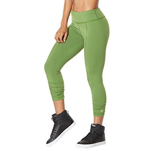 Zumba Fitness Perfect Ruched Capri - Pantalones para mujer, color verde, talla XXL