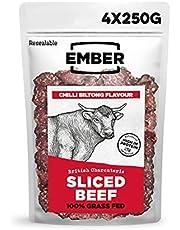 Ember Sliced Beef 1kg – Original Biltong Beef Jerky – hoog eiwit snack – hersluitbare bulkzak