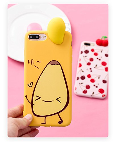 """63d8b669d2 Soft TPU Yellow Mango Case for iPhone 7 Plus / iPhone 8 Plus 5.5""""  Display"""