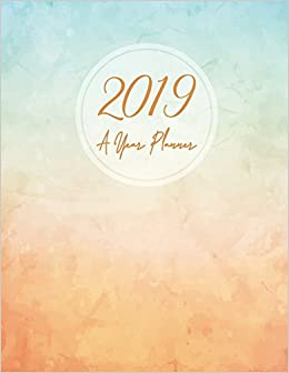 Amazon.com: 2019 A Year Planner: Pastel Watercolor, A Year ...
