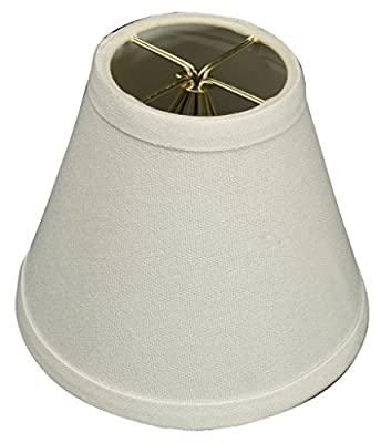 Royal Designs Linen White Hardback Empire Chandelier Lamp Shade
