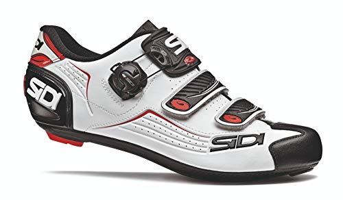 Sidi Alba Carbon Cycling Shoe - Men's Black/White/Red, 42.0