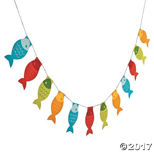Little Fisherman Fish Paper Pennant Banner - 7 ft -