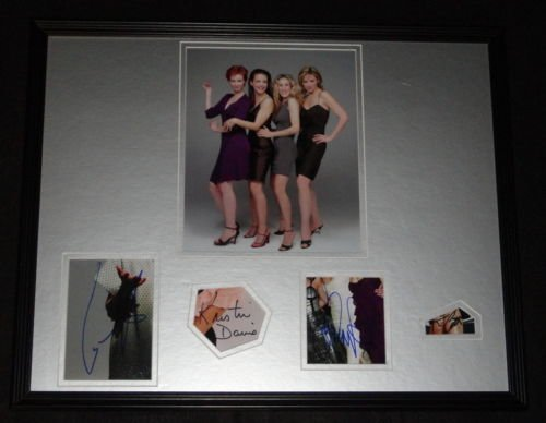 (Sex & the City CAST Signed Framed 16x20 Photo Poster Display)