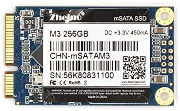 Zheino mSATA SSD 256GB M3 Internal Mini SATA SSD Drive three-D Nand Flash Solid State Drive for Mini PC Notebooks Tablets PC