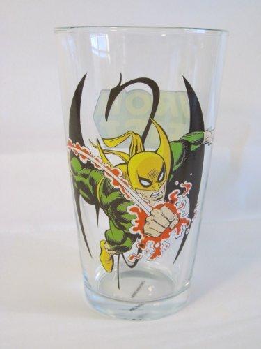 Iron Fist Toon Tumbler 16 Oz. Pint Glass Marvel Comics