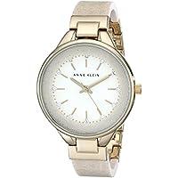 Anne Klein Women's AK/1408CRCR Swarovski Crystal Accented Cream Bangle Watch