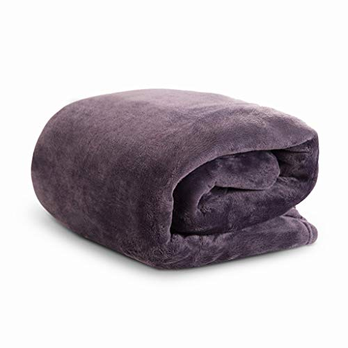 Blanket Silky Fleece (HYSEAS Velvet Throw, Light Weight Plush Luxurious Super Soft and Cozy Fuzzy Anti-Static Throw Blanket for Couch Chair All Seasons, 50