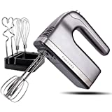 DmofwHi 9-Speed Hand Mixer Electric with Timer and Digital Screen(400W), Kitchen Handheld Mixer with Storage Case and 6…