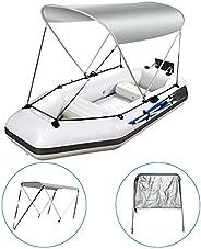 Oeyal Adjustable Bimini Top Boat Cover Boat Canopy Aluminum Support Poles 2 Bow Bimini Tops for Boats…