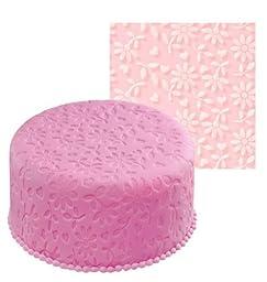 TANGCHU Floral Silicone Fondant Imprint Mat 50*50cm 20*20inch Pink