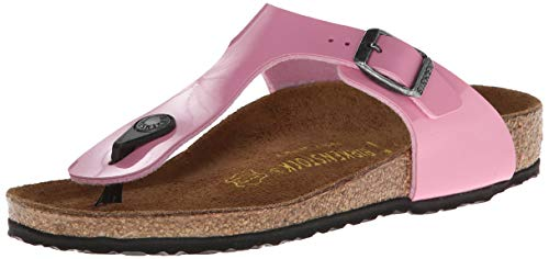 Birkenstock Girls Gizeh Fringes Thong Rose Sandal - 31 NAR