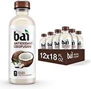 Bai Coconut Flavored Water, Molokai Coconut, Antioxidant Infused Drinks, 18 Fluid Ounce Bottles, (Pack of 12)