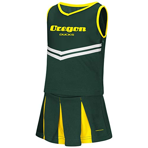 Colosseum NCAA Toddler-Girls Team Cheer Set-Oregon Ducks-2T]()