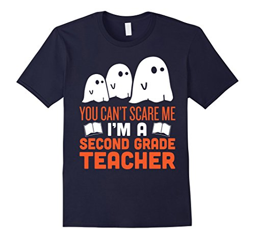 Mens Funny Scary Second Grade Teacher Halloween Costume Tshirt Medium Navy