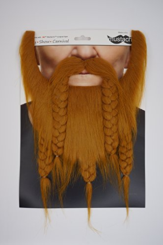 Mustaches Self Adhesive, Novelty, Fake Viking Dwarf Beard, Ginger Color by Mustaches (Image #3)