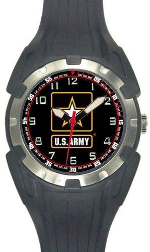 Aqua Force US Army Logo Analog Quartz Watch, Black