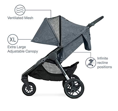 414QLLNnnoL - Britax B-Free Travel System With B-Safe Ultra Infant Car Seat - Birth To 65 Pounds | All Terrain Tires + Adjustable Handlebar + Extra Storage With Front Access + One Hand, Easy Fold, Vibe