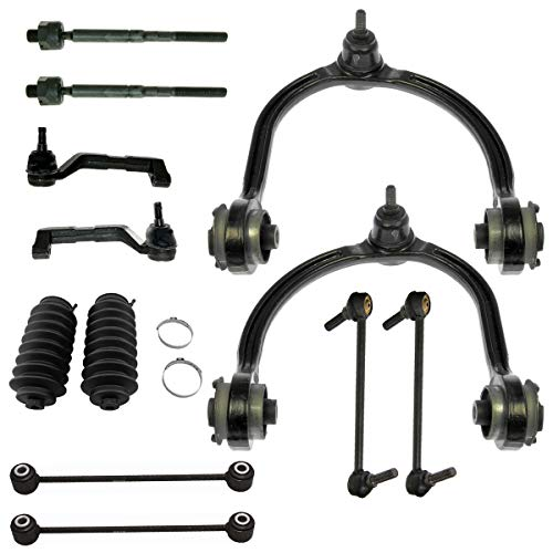 Detroit Axle - 12pc Front Upper Control Arms, Front Rear Sway Bar Links, Inner Outer Tie Rods w/Boot Kit for ALL WHEEL DRIVE 2005-2010 Chrysler 300 - [2005-2008 Dodge Magnum] - Charger Wheel Dodge Front Drive