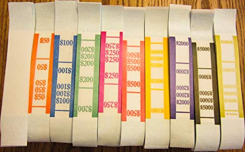 1000 SELF Sealing Currency Straps Money Bill Bands Strap