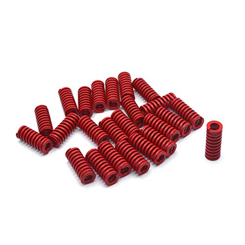 Antrader 8mm OD 4mm ID 20mm Long Medium Load Stamping Compression Mould Die Spring Red 24pcs ()