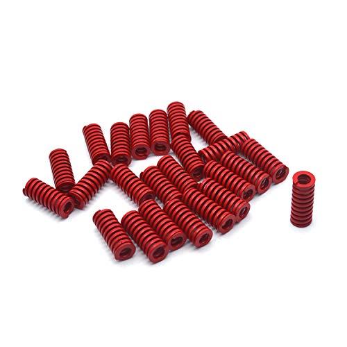 Antrader 8mm OD 4mm ID 20mm Long Medium Load Stamping Compression Mould Die Spring Red 24pcs