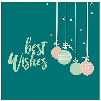Best Wishes Green CGSignLab 5-Pack Holiday Decor Square Window Cling 24x24