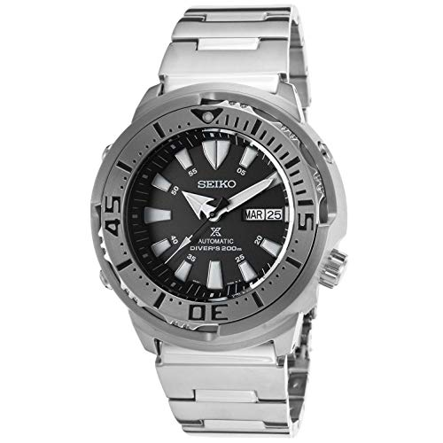 Seiko SRP637 Men's Prospex Analog Automatic 200m Dive Stainless Steel - Black Automatic Seiko Monster