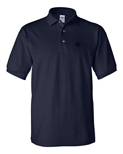 Speedy Pros Skull Mustache Embroidery Design Polo Shirt Golf Shirt - Navy, 2X (Skull Embroidery Design)