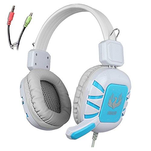 AFUNTA Headphone Microphone Smartphones Tablet Blue