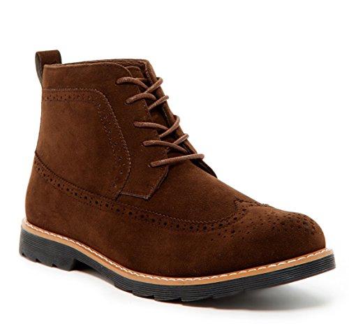Giraldi Zion Men's Chukka Boots, Brown, (Suede Wingtip Boots)