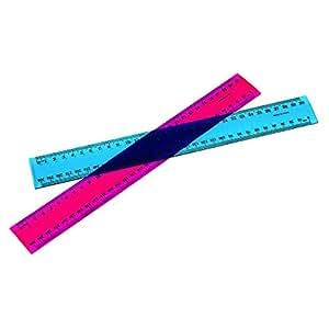 Marbig Ruler Fluorescent Plastic 30Cm 30Cm Fluorescent Plastic