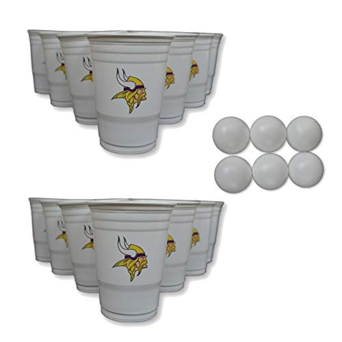 - NFL Fan Shop Beer Pong Set. Rep Your Favorite Team with the Classic Game of Beer Pong at home or at the Tailgate Party - Comes with 22 Cups and 6 Ping Pong Balls (Minnesota Vikings)