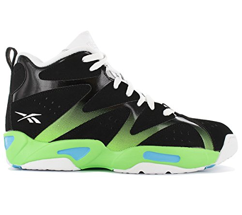 Reebok Kamikaze Nero Suede Multicolore Sneakers Mid Nylon I Uomo rOqxp5zwvr