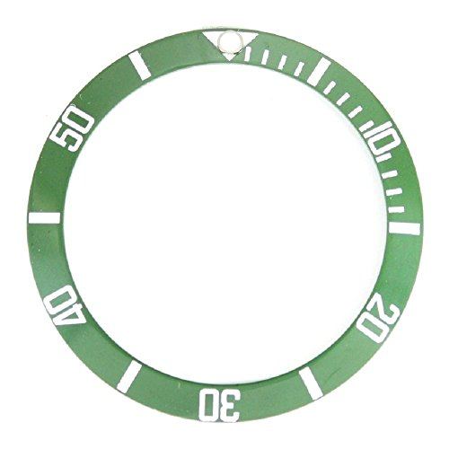 Bezel Insert To Fit Rolex Men's Submariner - Green / White Ceramic