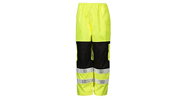 ML Kishigo Premium Brilliant Series Mens Class E High Visibility Rain Pants S//M Lime