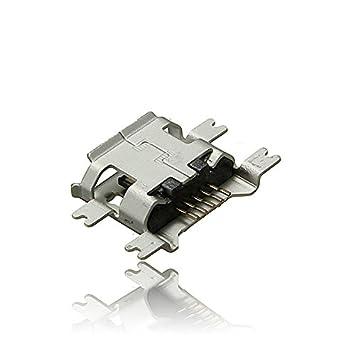 HITSAN Micro USB Tipo B Hembra 5 Pines Socket 4 Patas SMT SMD Soldador Conector Una Pieza: Amazon.es: Hogar