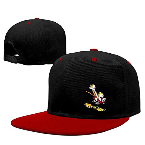 Newest Calvin And Hobbes Hip Hop Cap Baseball Hat Adjustable 100% Cotton Male/Female Red